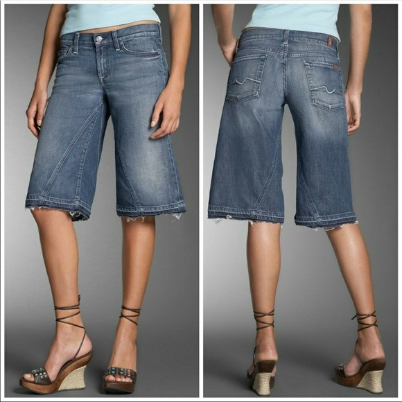 7 For All Mankind Denim - 7 for all mankind Parker Gaucho jeans short